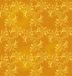 seamless background of gold leaf vector image