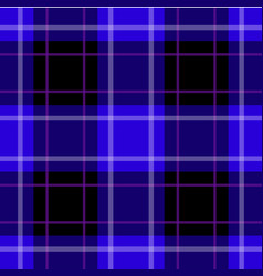 seamless blue black tartan white purple stripes vector image
