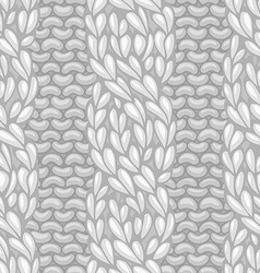 Seamless four-stitch front cable stitch vector image