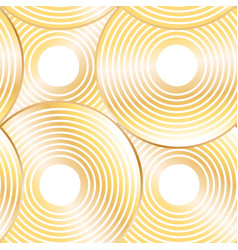 seamless golden striped circles on white vector image