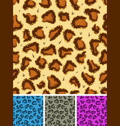 seamless leopard or cheetah fur background vector image
