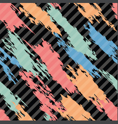 seamless pattern of colorful abstract shapes on vector image