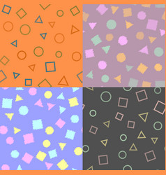 seamless pattern with geometric figures vector image