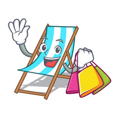 shopping beach chair character cartoon vector image