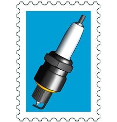 Sparking plug stamp vector image