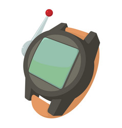 Spy wristwatch icon cartoon style vector