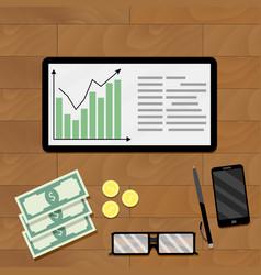 Statistic economic graphic vector