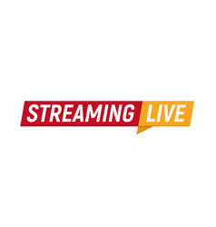 streaming live logo online video stream icon vector image