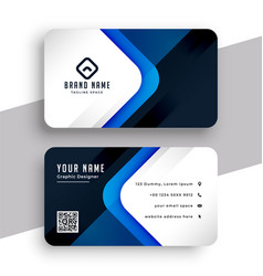 Stylish blue modern professional business card vector