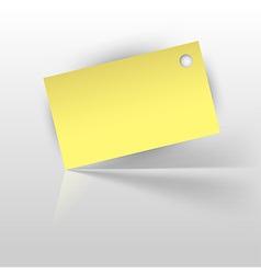 Tag yellow vector