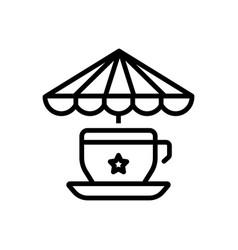 Tea stall vector