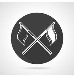 Team flags black round icon vector image