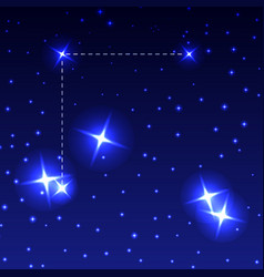 The constellation coma berenices in the night vector