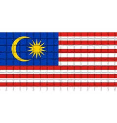 The mosaic flag of Malaysia vector