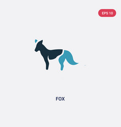 two color fox icon from animals concept isolated vector image