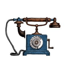 typical telephone end xviii century vector image