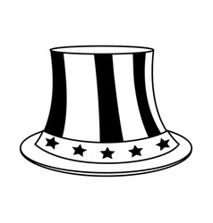 Uncle sam top hat with flag united states usa vector