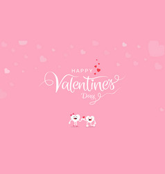 valentines day background with calligraphy vector image