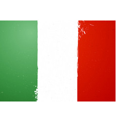 vintage grunge texture flag of italy vector image