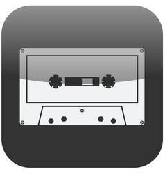 vintage tape cassette icon isolated symbol vector image