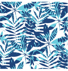 vivid bright jungle foliage seamless pattern vector image