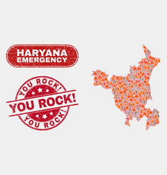 Wildfire and emergency collage haryana state vector