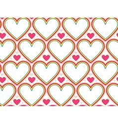 Wrapping paper Valentines Day Heart shape vector