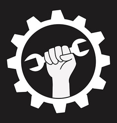 wrench design vector image