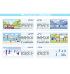 written family vacation infographic cartoon vector image