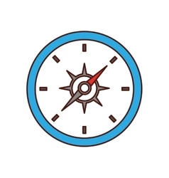 compass travel device isolated icon vector image vector image