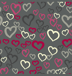 pink hearts seamless tile valentines day vector image