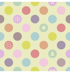 Retro Seamless Christmas Pattern vector image vector image