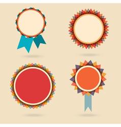 Set of four vintage award bagdes vector image vector image