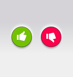 Thumbs like and dislike vector