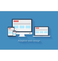 Adaptive web design vector image vector image