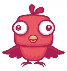 cute baby bird vector image vector image