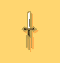 flat icon design collection ancient weapon sword vector image vector image
