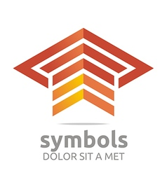 Logo Design Element Arrow Letter Line Icon Symbol vector image vector image