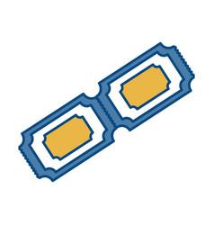 ticket icon image vector image