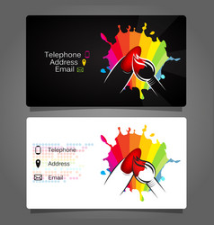 business card for manicure design vector image vector image