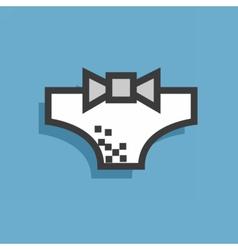 Icon style underwear vector image