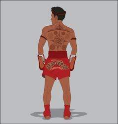 MUAY THAI TATTOO vector image vector image