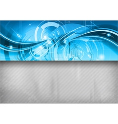 tech background line top blue vector image vector image