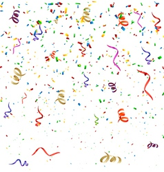 Confetti Birthday Background vector image vector image