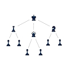 Hierarchy of company with chess icons vector image