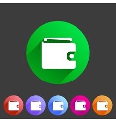 Purse wallet icon flat web sign symbol logo label vector image vector image