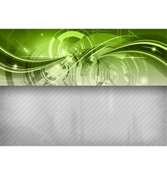 tech background line top green vector image vector image