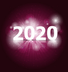 2020 happy new year on pink background vector image