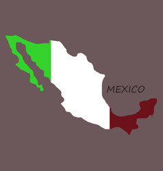 3d flag map of mexico vector image