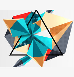 3d polygonal elements abstract background vector image